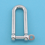 """S0138-CP06 STAINLESS STEEL 316 LONG D SHACKLE 1//4/"""" W// CAPTIVE PIN"""